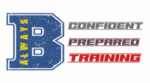 Logo: Always B Confident, Prepared, Training