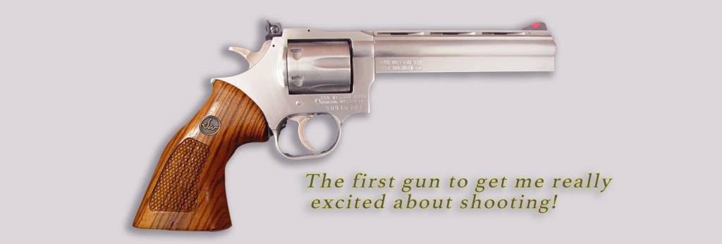 The first gun to get me excited about shooting was a Dan Wesson .357magnum
